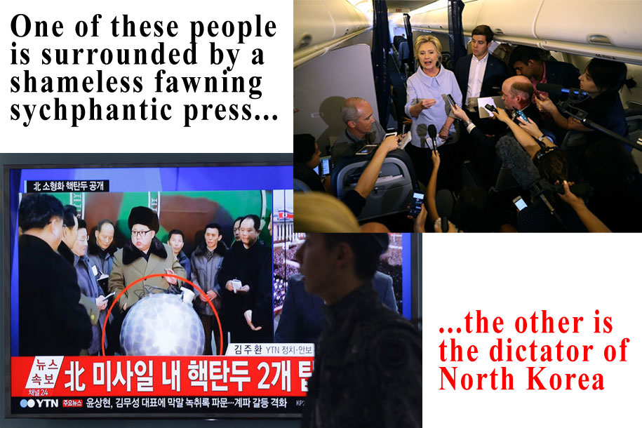 The Press Fawns Over Hillary More Than Kim Jung Un